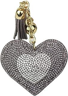 Sanwooden Cute Keychain Exquisite Women Love Heart Pendant Key Chain Rhinestones Tassel Keychain Gift Girl Fashion Accessories