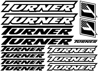 1 set Turner Vinyl Decals Stickers Sheet Bike Frame Cycle car styling decorative car body sticker