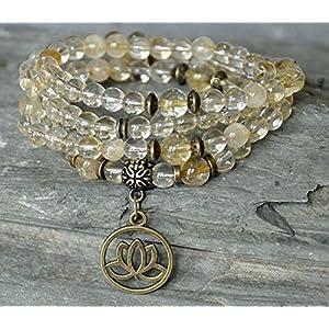 Abundance, Success Citrine 108 Mala Prayer Beads