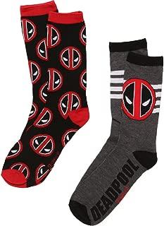 Deadpool Logo 2-pack Adult Cre Socks