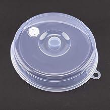 A sixx Tapa de Placa de microondas, Cubierta de Placa de microondas Lavable Transparente, para Piezas de Horno de microondas para Accesorios de Horno de microondas(Large)