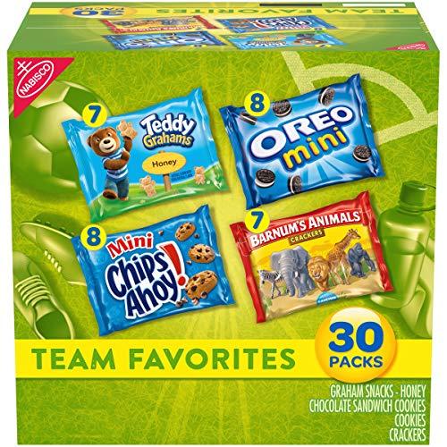 Nabisco Team Favorites Variety Pack, OREO Mini, CHIPS AHOY Mini, Teddy Grahams Honey & Barnum