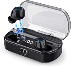 iPosible Auriculares Inalámbricos Bluetooth [2019 Más Nuevo Modelo - 3500mAh] Sonido Estéreo Mini Twins In-Ear Auriculares Carga Rapida Resistente al Agua con Caja de Carga para iOS y Android