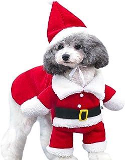 Mumoo Bear Christmas dog Clothes Pet Dog Costume Santa Claus Costume Winter Christmas Pet Coat apparel Cotton Clothes for dog