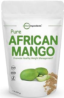 Maximum Strength Pure African Mango Powder (Irvingia Gabonensis Powder, Wild Mango Extract), 1 Pound, Supports Metabolism ...