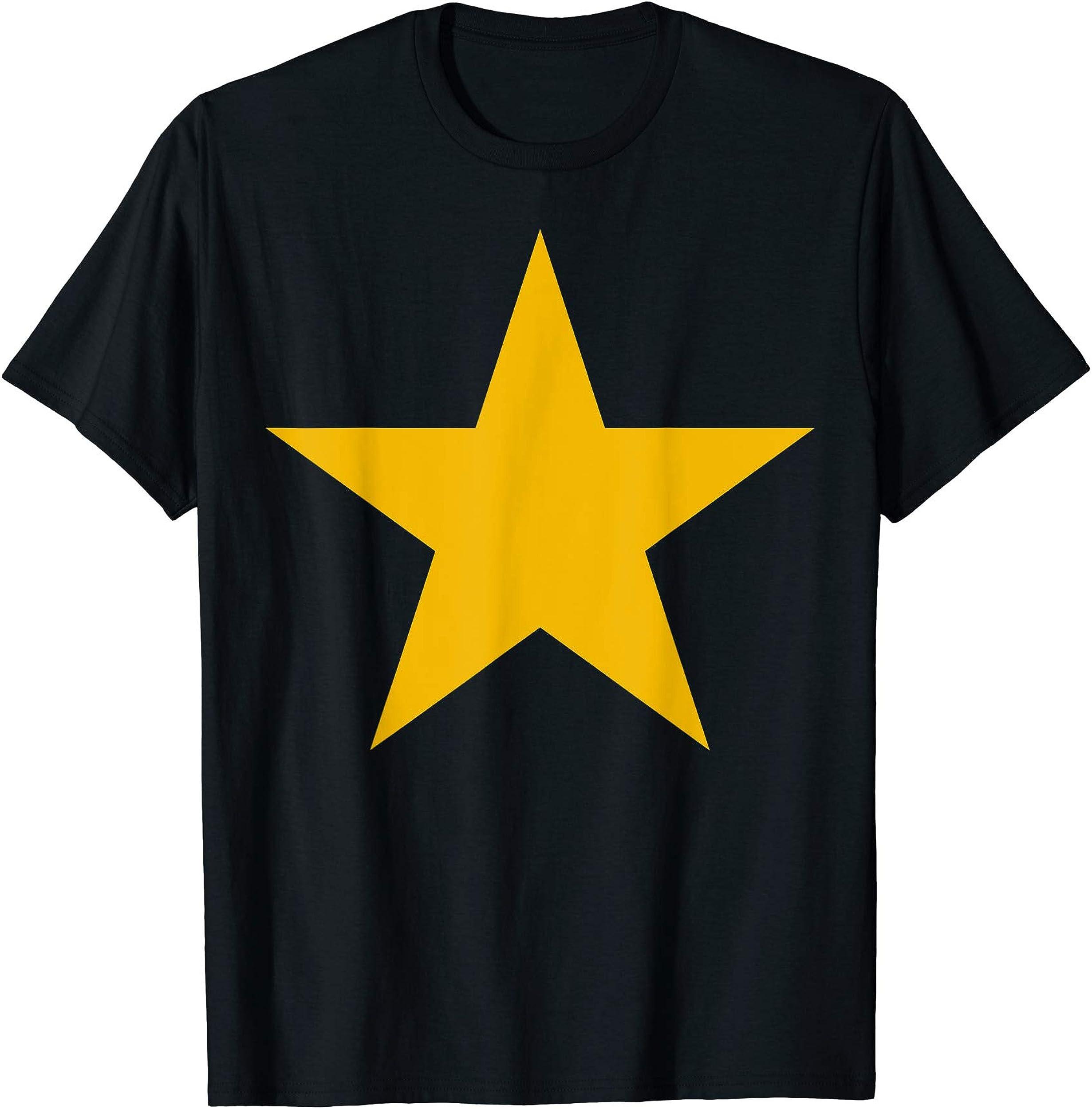 Mustard Yellow Star T-Shirt - Mustard Yellow Star Shirt