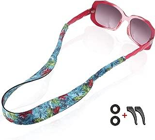 Gunxr Women Sunglass Strap Waterproof Sport-Fashion Pattern Eyeglass Straps with Swimming Diving Floating Soft Durable Neoprene Material-Glasses Strap Holder-Free Sport Retainer Hooks