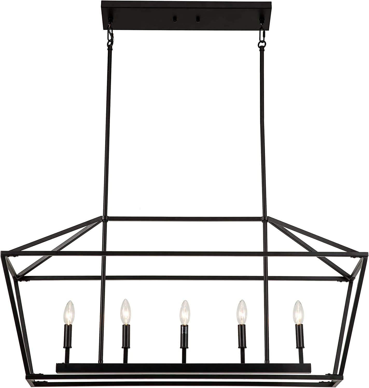 Untrammelife 5-Light Max 87% OFF Linear Pendant Fixture Islan Light Kitchen Sale price