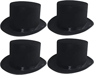 Sleek Felt Black Top Hat Fancy Costume Party Accessory (1 Hat)