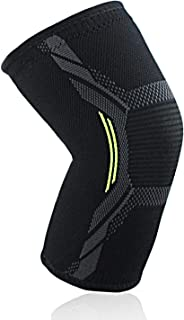 Knee Brace Compression Sleeve Non-Slip Strap Support for Running, Hiking, Crossfit, Squats Relief for Joint Pain, Meniscus Tear, Arthritis, ACL, MCL (M)