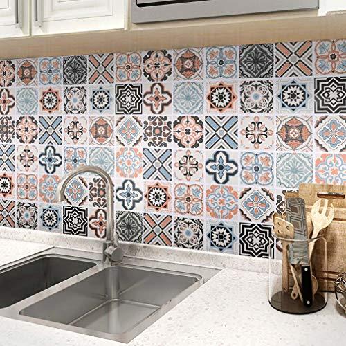 Fliesenfolie, Fliesenaufkleber 60 x 500 cm Küchenfolie selbstklebend Fliesen Folie Mosaikfolie für Küche Küchenrückwand Folie Wandtapete Klebefolie Wand für Möbel Küchen