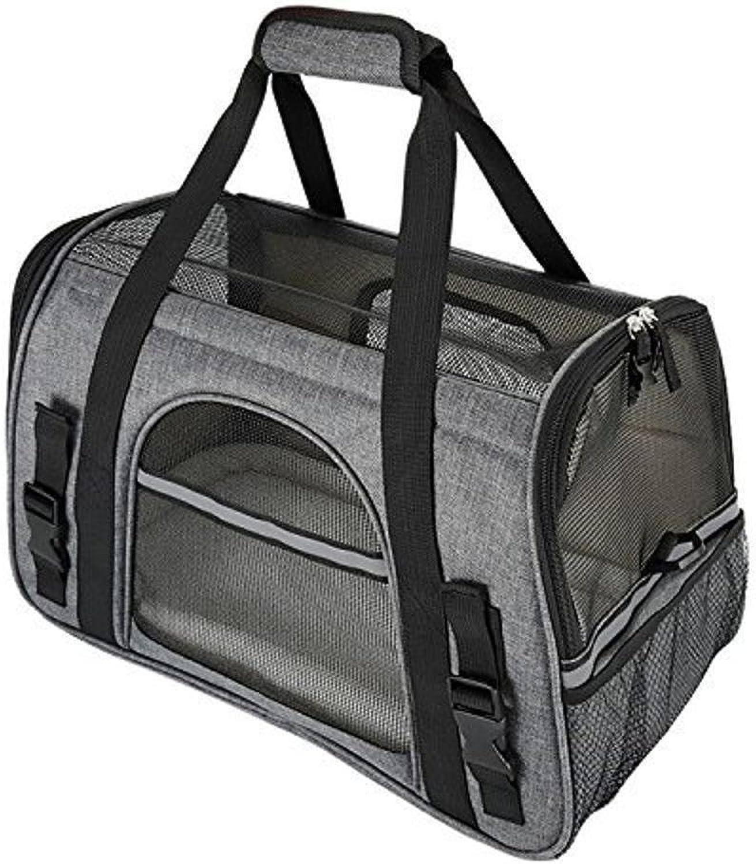 Daeou Pet Backpack Travel Package Portable Breathable Single ShoulderSpan Handheld Abrasive Cloth Bag
