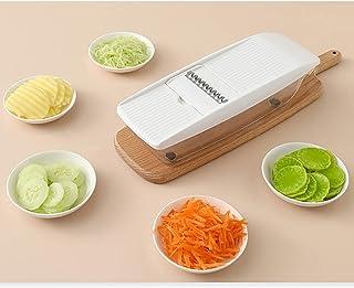 Coupe-légumes,Manuel Coupe-Oignon Multifonction Salade Food Cutter avec Récipient et Panier de Vidange,Cuisine Trancheur d...