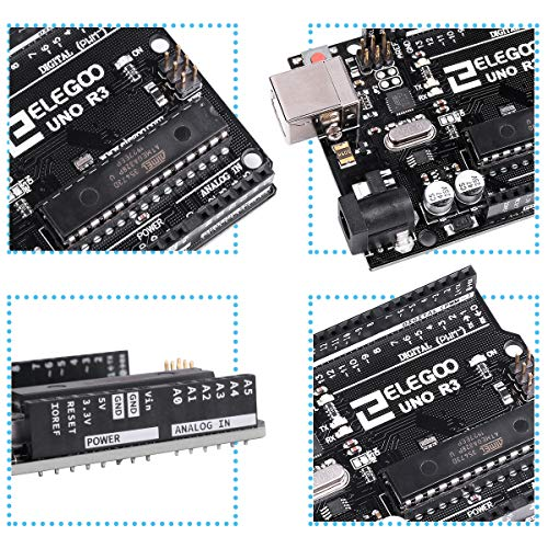 『ELEGOO Arduino用UNO R3コントロールボード ATmega328P +USBケーブル』のトップ画像