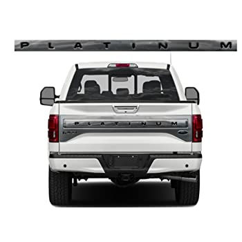 SF Sales USA Black Tailgate Letters F-150 Platinum 2015-2017 F150 Rear Inserts Not Decals F150-PLAT-LETTERS-BLK