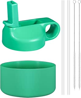 SPORTULA Straw Lid and Boot for Hydro Flask and Most Insulated Sport Water Bottles from 12 oz - 40 oz, Wide Mouth Only