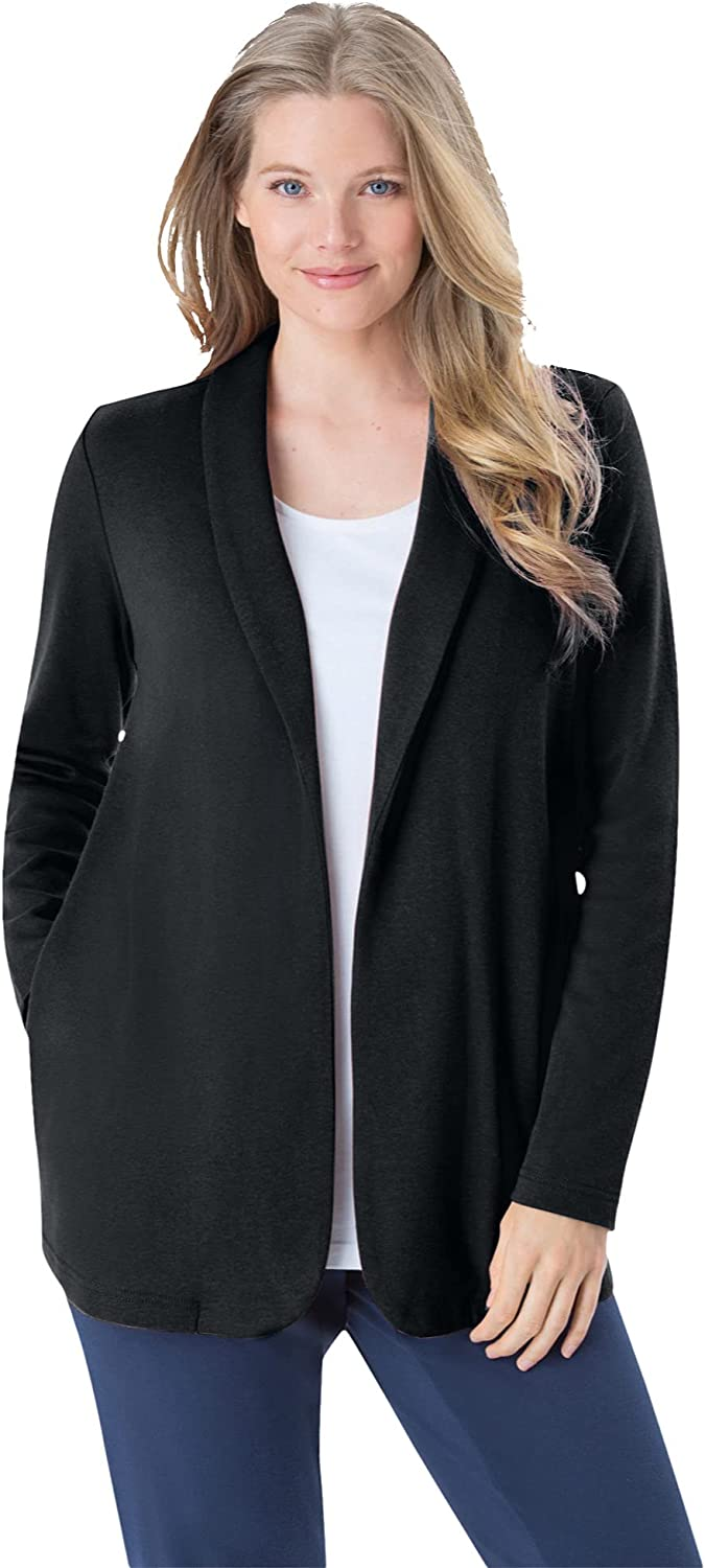 Lowest price challenge Woman Within Women's Plus 7-Day Knit Same day shipping Jacket Size