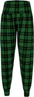 Forever Womens Leopard Army Tartan Print Viscose Harem Trousers