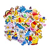 40Pcs Hot Disney Pooh Bear Tigger Stickers for Water Bottle Cup Laptop Guitar Car Motorcycle Bike Skateboard Luggage Box Vinyl Waterproof Graffiti Patches WJ