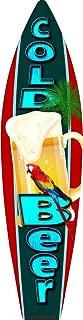 Smart Blonde Cold Beer Metal Novelty Surf Board Sign SB-050