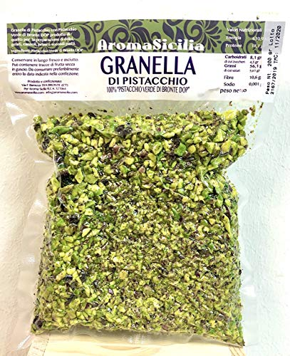 200gr gehackte Pistazien aus 100% Pistazien Bronte DOP Sizilien ungesalzen, Premium Qualität
