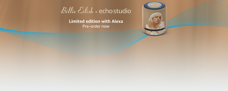 Billie Eilish Limited Edition Echo Studio with Alexa. Pre-order now