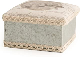 Home Chelsea Caja Quadra 9/x 9/x 5/cm Tela Blanco///ámbar