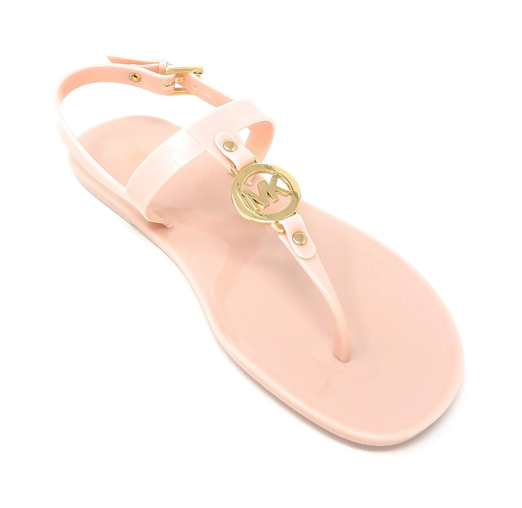 michael kors soft pink sandals