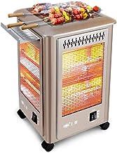 CJC Eléctrico Calentadores Estufa BBQ 2 Calor Ajustes Sobrecalentar Proteccion Cuarzo Tubo Calefacción Volcar Cambiar Calefacción (Tamaño : M-23 * 23 * 38CM)