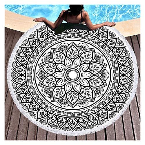 YanHui-LZC Beach Mandala Round Beach Towels Summer Geometric Thick Bath Shower Towel 150cm Circle Beach Swim Yoga Mat for Kids Women Men Boy Girl (Color : C)
