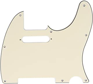 Musiclily 8 Hole Tele Pickguard for American/Mexican Made Fender Standard Telecaster Modern Style Electric Guitar,3Ply Cream