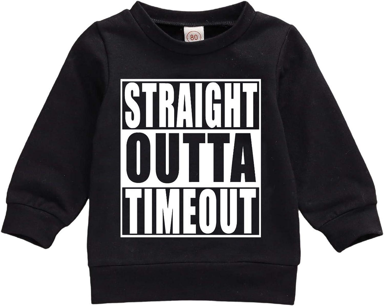 Yoawdats Baby Boy Girls Crewneck Sweatshirt Long Sleeve Pullover Mamas Boys Print Winter Fall Tracksuit