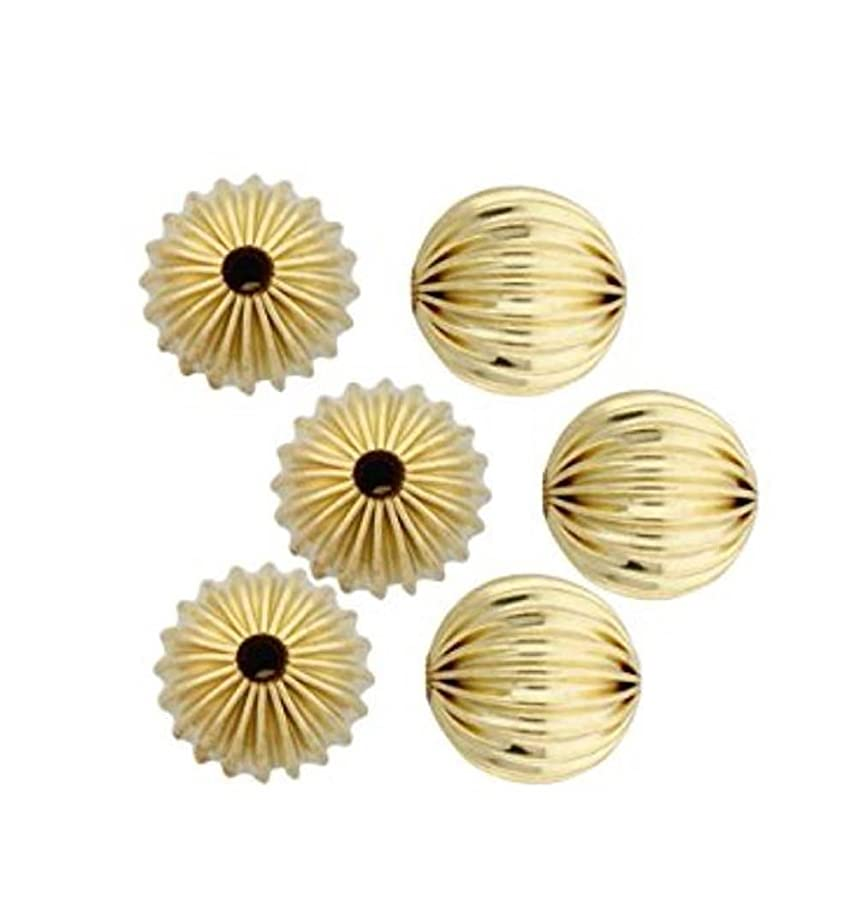 100pcs Top Quality Beautiful Mellon Spacers 10mm Loose Round Metal Beads Gold Plated Brass for Jewelry Craft Making CF116-10