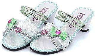 [ディーエイチパーティ] 女の子 キッズ 子供靴 運動靴 通学靴 ミュール サンダル 太ヒール 歩きやすい 疲れない 2WAY リボン付き クッション性 美脚 カジュアル デイリー スクール 1804