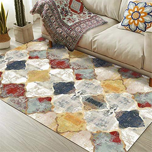 WQ-BBB Fácil De Mantener Sofá La Alfombrae Color Estilo Retro alfombras Salon Modernas Gris Rojo marrón Blanco Absorbente Bonita Rugs 60X90cm