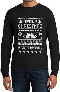 Shirtgeil Meowy Christmas Langarm T-Shirt - Süsse Weihnachts Kätzchen