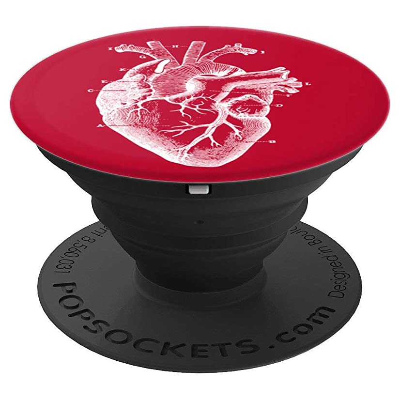 Vintage Anatomical Human Heart Design Medicine Accessory - PopSockets Grip and Stand for Phones and Tablets
