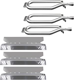 Sunshineey Gas Grill Replacement Parts,Stainless Steel Burners,Heat Plates for Members Mark BQ05046-6, BBQ ProBQ05041-28, BQ51009, Sam's Club, Outdoor Gourmet Repair Kit (3PACK)