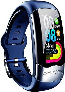 Smart Watch, H02 z godzią Meter, Zegarek H02 z naklejką testową EKG, inteligentny tętno, ciśnienie krwi Bransoletka sporta...