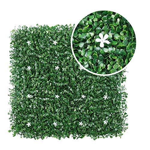 Art To Real Künstliche Buchsbaumplatten, 12 Stück, künstliche Buchsbaum-Pflanzen
