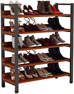 Hyl Zapateros 5 Niveles Zapato Zapatillas de Rack Entrada estantes de Almacenamiento Organizador Estable Superficie Libre ...