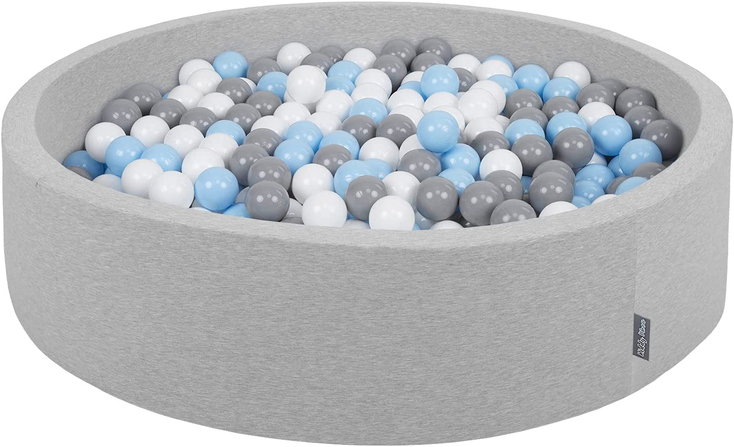 Gris Cl:Perle-Gris-Transp-Babyblue-Menthe KiddyMoon Piscine /À Balles 120X30cm//200 Balles Grande Rond pour B/éb/é Fabriqu/é en UE