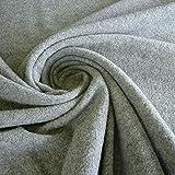 Stoff am Stück Stoff Wolle Gewirk hellgrau reine Wolle