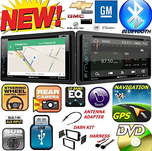 CARTRONICS-SOUNDSTREAM 2006-2016 GM Chevy Buick GMC Hummer Pontiac Saturn Double Din DVD CD GPS Navigation Bluetooth Radio Stereo