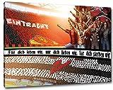 Frankfurtfür dich leben wir Format: 60x40, Bild auf