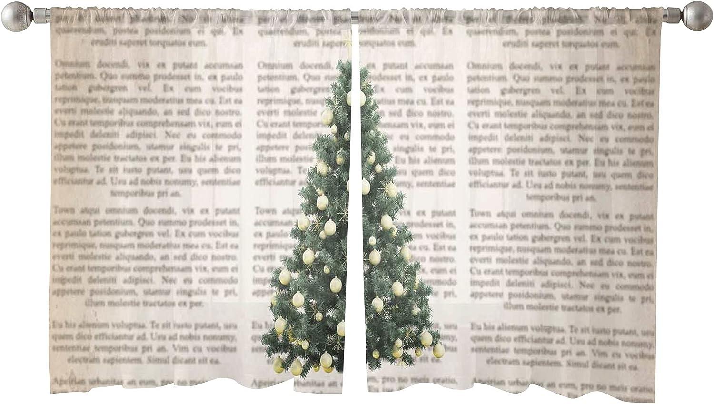 Fashionable Kansas City Mall Christmas Semi Sheer Linen Curtain Window Transparent Trea Half