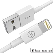 Heardear Cable iPhone Cargador Cable Lightning,Cable de Lightning a USB[Certificado MFi de Apple]para iPhone 11 Pro MAX/XS Max/XR/X/8/7/6s/6/Plus/5SE/5s,iPad Pro/Air/Mini,iPod(Blanco 0.15M) Original