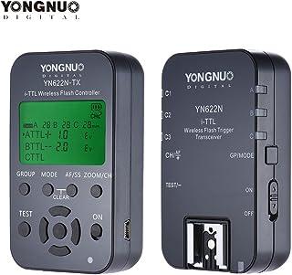 YONGNUO YN622N-KIT جهاز تحكم لاسلكي عن بعد 100M I-TTL مجموعة زوج جهاز إرسال واستقبال لنيكون D70 D80 D90 D200 D300 DSLRs