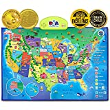 Product Image of the BEST LEARNING i-Poster My USA Interactive Map - Educational Talking Toy for Kids...