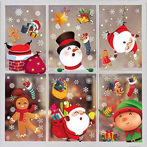 Funnlot Christmas Window Stickers 8 Sheets Christmas...